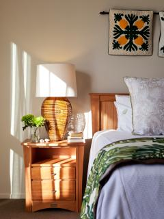 Master bedroom in sunlight