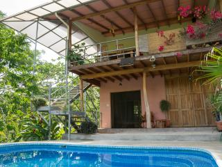 Montezuma Beach home with views of water & jungle