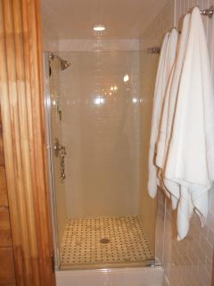 ...and the spacious shower delights