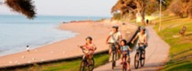 Bayside bike riding