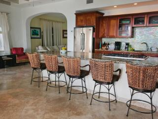 Kitchen Island Three Palms St. John Villa Vacation