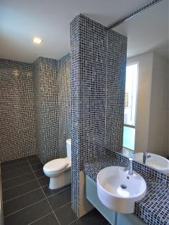 Master bedroom ensuite, with large shower head