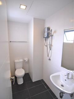 Shared bathroom and shower off kitchen/laundry