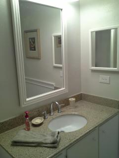 Master bath granite vanity counter