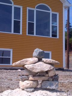 Inukshuk left by some lovely Guests!