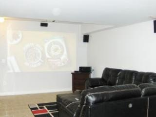 Lower Level Rec Room w/120' Projector