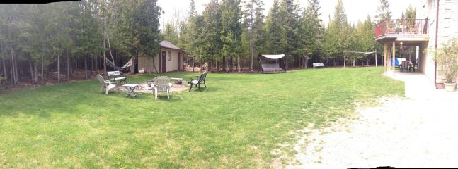 Panoramic view of the yard