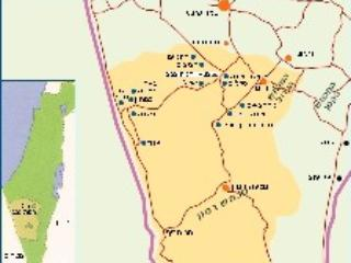 The map of the Negev Left down is Ezuz