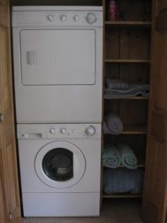 washer and dryer in cottage