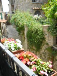 View from the balcony down Via Mazzini
