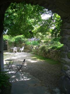 View from Garden Gate to Patio