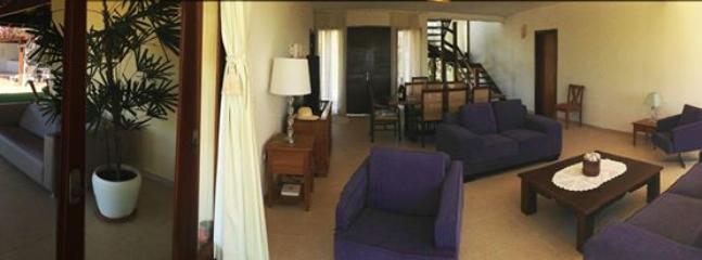 Living room and adjoining outside veranda