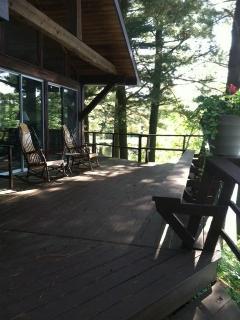 deck facing lake