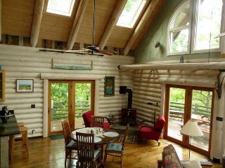 Light Filled Mountain Log Home close to Asheville, Fairview