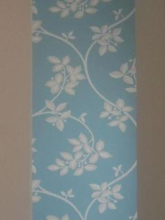 Wallpaper in room with balcony