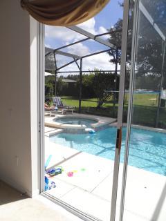 Pool area NOT overlooked