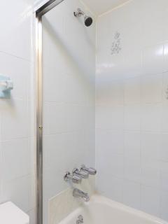 Bathroom includes towels