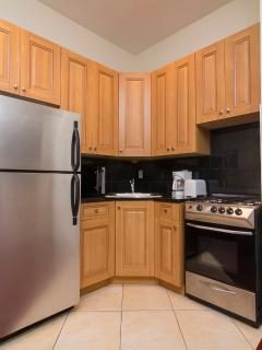 Kitchen appliances and utensil included