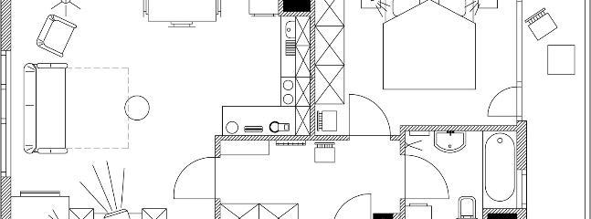 Floor plan of the apartment Irena