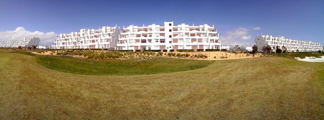 View of apartment from golf course