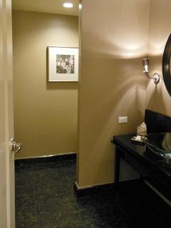 Powder room off the foyer