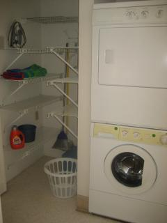 Washer and dryer in the utility closet