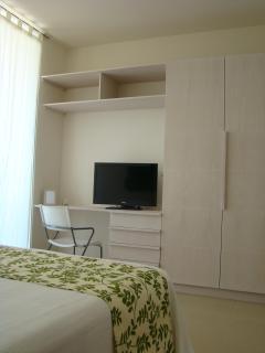 closet, desk, tv/cable.  wifi.