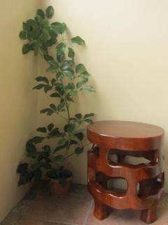 Mahogany-made stool-cum-mini table