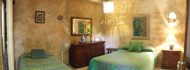 Room #3 at Casitas Kinsol - 1 double bed and 1 single bed.