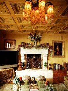 Hand painted Coffered ceiling detail & Beautiful art