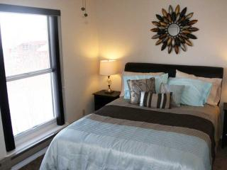 Bedroom with very comfortable queen bed