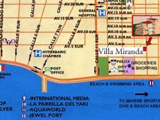 Location Map of Villa Miranda