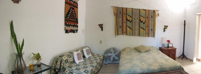 Room #5 at Casitas Kinsol - 1 full-size bed (double bed) and 1 sofa that can convert into a mattress