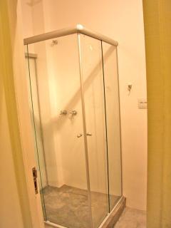 spacious glass shower