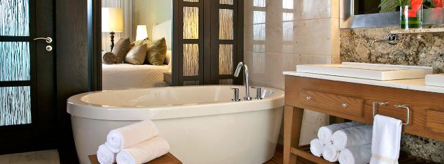 The Large Sized Luxxe Suite Bath Area