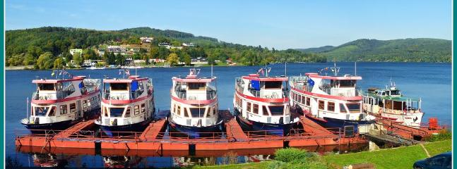 Brno dam - steam boats