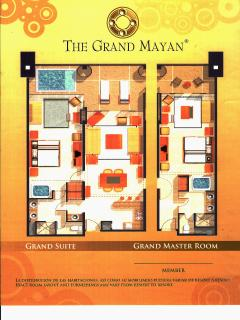 Grand Mayan Grand Master Suite Floor Plan - Two Bedroom, 1,900 SF Unit