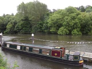 Narrowboat on the Scenic River Thames West London, Shepperton