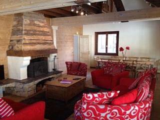 Large lounge and log fire