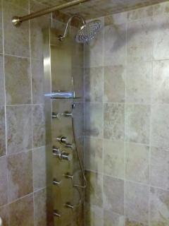 Eur. luxury shower. all tiled bath