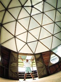 The geodesic dome for hollistic exercises