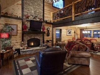 Pet Friendly Vacation Rental with Hot Tub, fire pit and media room, Ellijay