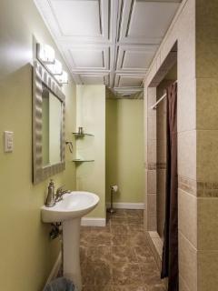 Full bathroom located on the terrace level
