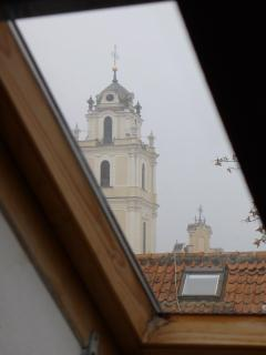 View of St. John's Church through skylight