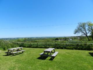 Stunning views across to Exmoor from the guest's garden