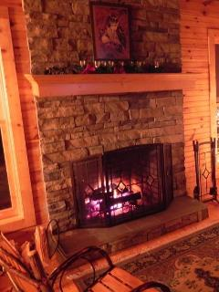 Fireplace in main level