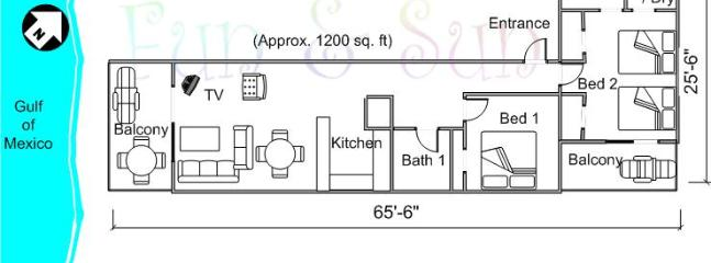 General layout of condo