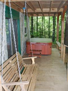 Private hot tub and swing