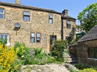 DALE COTTAGE, pet-friendly cottage, open fire, front patio, views, in Youlgreave Ref 26488