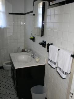 Upstairs Bathroom: Full Bathroom with Bath/Shower, Sink and Toilet